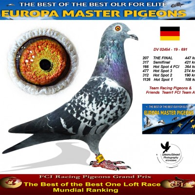 207th place - Team Racing Pigeons & Friends Team 1 FCI Team A